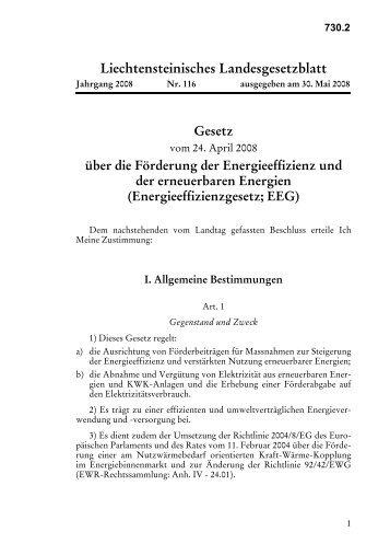 Liechtensteinisches Landesgesetzblatt - Alpstar Project
