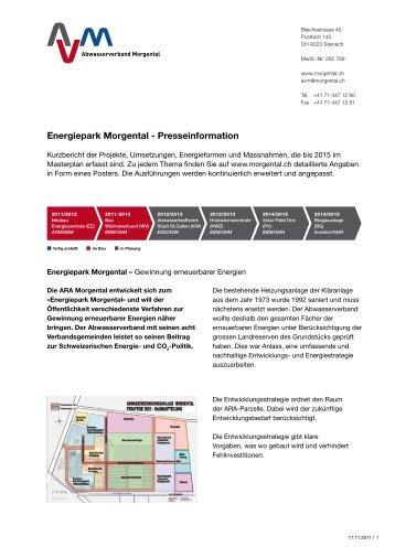 Energiepark Morgental - Presseinformation - Abwasserverband ...
