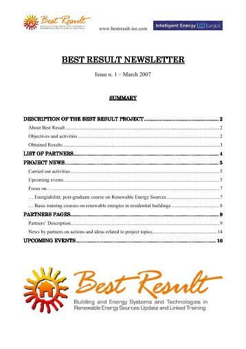 NEWSLETTER BEST RESULT-n-01 - Alpstar Project