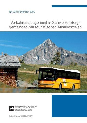 Verkehrsmanagement in Schweizer Berg- gemeinden ... - Bus alpin