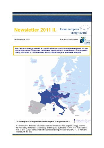 Newsletter 2011 II. - Alpstar Project