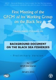 Background document on the Black Sea Fisheries