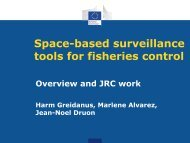 Space-based surveillance tools for fisheries control