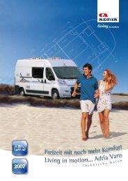 Living in mo tion... Adria Va - M/S VisuCom GmbH