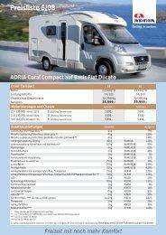 Preisliste Reisemobile - M/S VisuCom GmbH