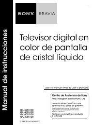Televisor digital en color de pantalla de cristal líquido - Sony