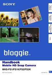 How to use this handbook - Sony