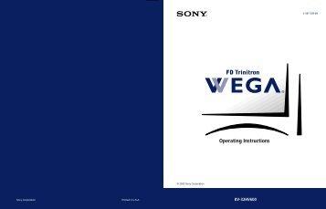 Operating Instructions - Manuals, Specs & Warranty - Sony