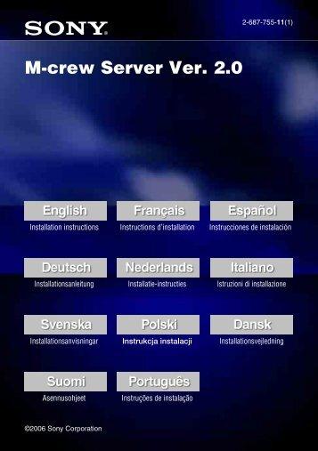 M-crew Server Ver. 2.0 - ManualShark