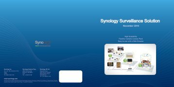 Synology Surveillance Solution - Synology Inc.