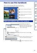 Handbook - Sony - Page 2