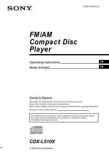 fm am compact disc player electronics select your model sony?quality=85 fm am compact disc player cdx hs70mw cdx hs70ms sony sony fm am compact disc player wiring diagram at alyssarenee.co