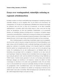 Essays over woningaanbod, ruimtelijke ordening ... - VU-DARE Home