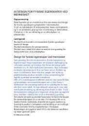 05 DESIGN FOR FYSISKE EGENSKAPER VED MENNESKET ...