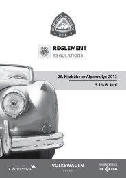 komplette Reglement 2013 zum Download! - Kitzbüheler Alpenrallye