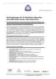 Die Königsetappe der 19. Kitzbüheler Alpenrallye führt 2006 wieder ...