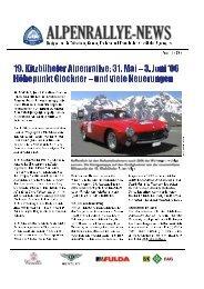 ALPENRALLYE-NEWS - Kitzbüheler Alpenrallye