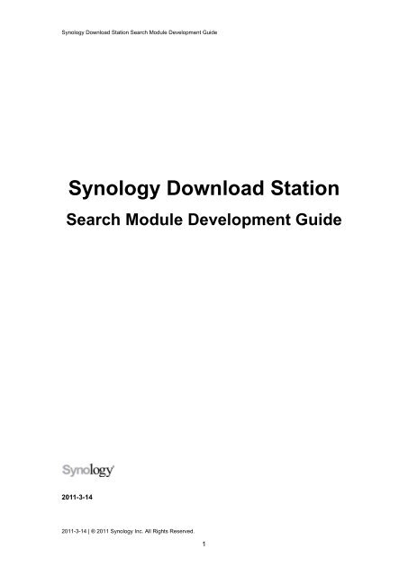 Synology Download Station Search Module     - Synology Inc