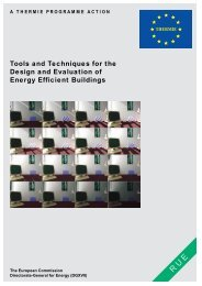 Tools and Techniques for the Design and Evaluation of Energy ...