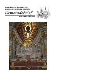 Gemeindebrief - in der St.-Marien-Kirche zu Rostock