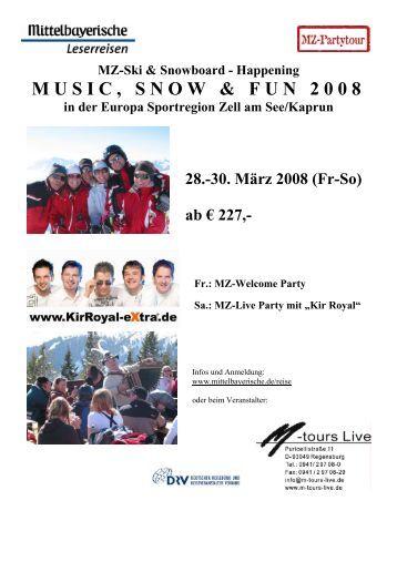 MUSIC, SNOW & FUN 2008