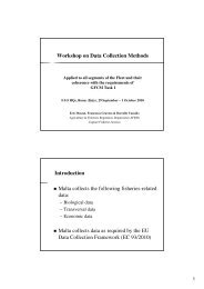 Workshop on Data Collection Methods Introduction Malta collects ...