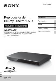 Reproductor de Blu-ray Disc™ / DVD - Sony