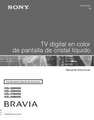 TV digital en color de pantalla de cristal líquido - Sony