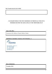 New FRA proposal Balearic Islands