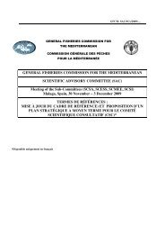 GENERAL FISHERIES COMMISSION FOR THE MEDITERRANEAN ...