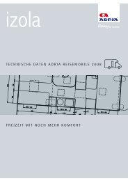 technische daten adria reisemobile 2008 - M/S VisuCom GmbH