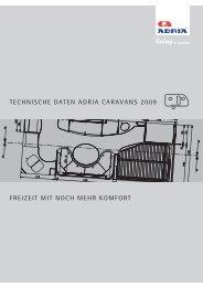 technische daten adria caravans 2009 - M/S VisuCom GmbH