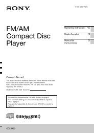 FM/AM Compact Disc Player - Sony
