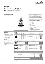 Volumenstromregler (PN 16) - Danfoss