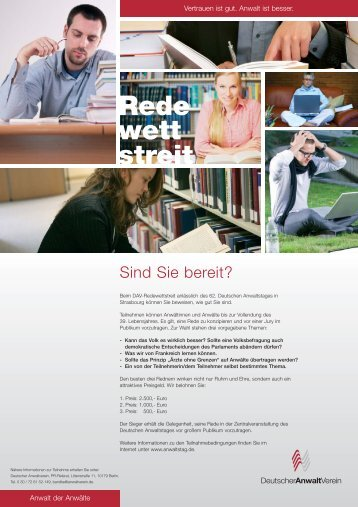 Anmeldung - Deutscher Anwaltverein