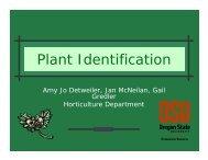 Plant Identification - Oregon State University