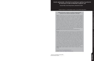evaluación de un método para optimizar la producción de inóculo ...