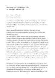 Wahlbrief von Erhard Eppler und Oskar Negt im
