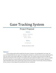 Gaze Tracking System - Bradley University ECE department
