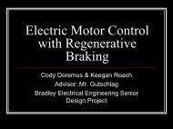 Electric Motor Control with Regenerative Braking