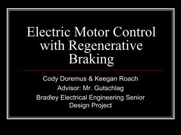 Electric Motor Control with Regenerative Braking