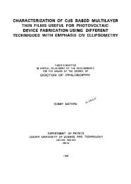 Characterization of CdS Based Multilayer Thin Films useful for ...
