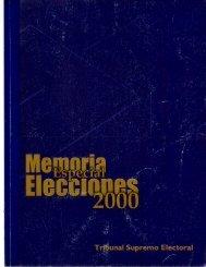 Page 1 Page 2 Page 3 Memoria Especial Elecciones 2000 Tribunal ...