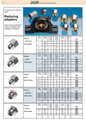 Reducing adapters