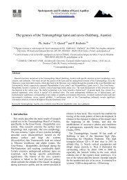 The genesis of the Tennengebirge karst and caves ... - Speleogenesis