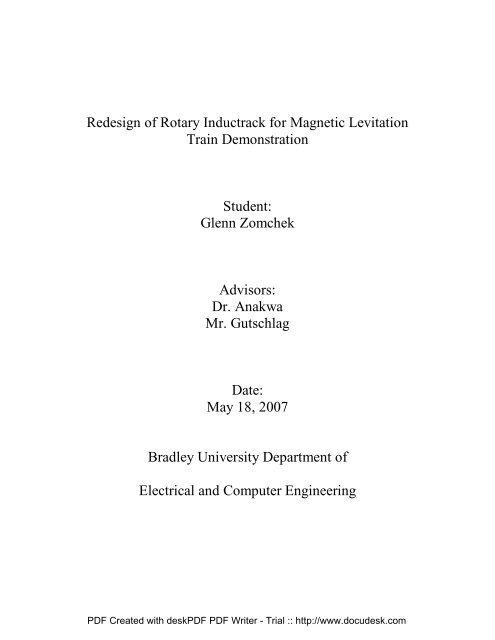 Final Project Report - Bradley University ECE department