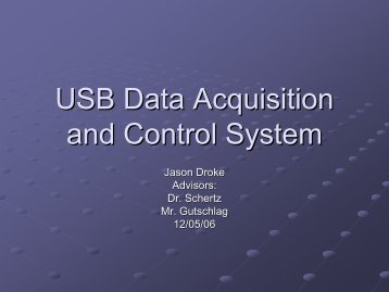 USB Data Acquisition and Control System