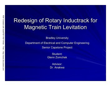 Redesign of Rotary Inductrack for Magnetic Train Levitation