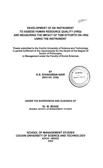 thesis on human resource development in indian Human resource information system and its impact on human resource planning: a perceptual wwwiosrjournalsorg 7 | page.