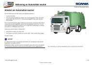 Aktivering av Automatisk neutral Allmänt om Automatisk ... - Scania